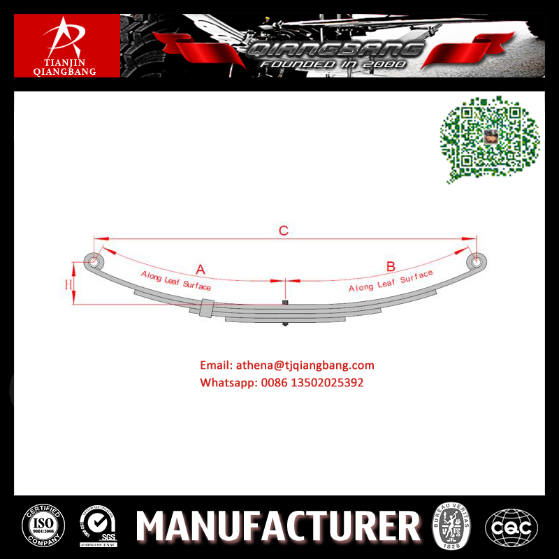 Factory Double Eye Trailer Small Leaf Spring