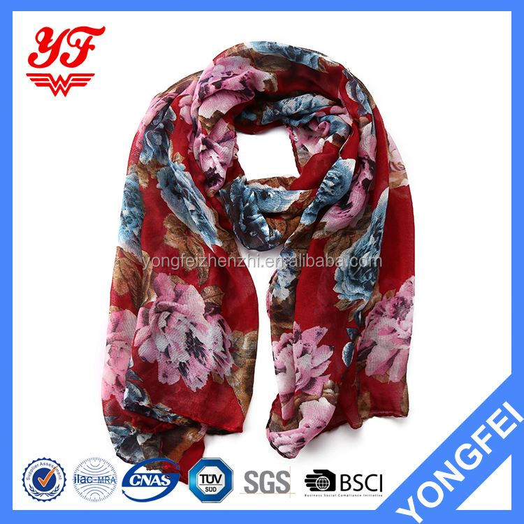Factory Supply trendy style japanese silk scarf on sale