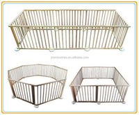 2015 new arrival wooden baby furniture/baby playpen/ baby play yards