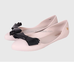 2016 new product closed toe women ballet shoe bowknot women ballerina shoes women falat shoes with big bowknot