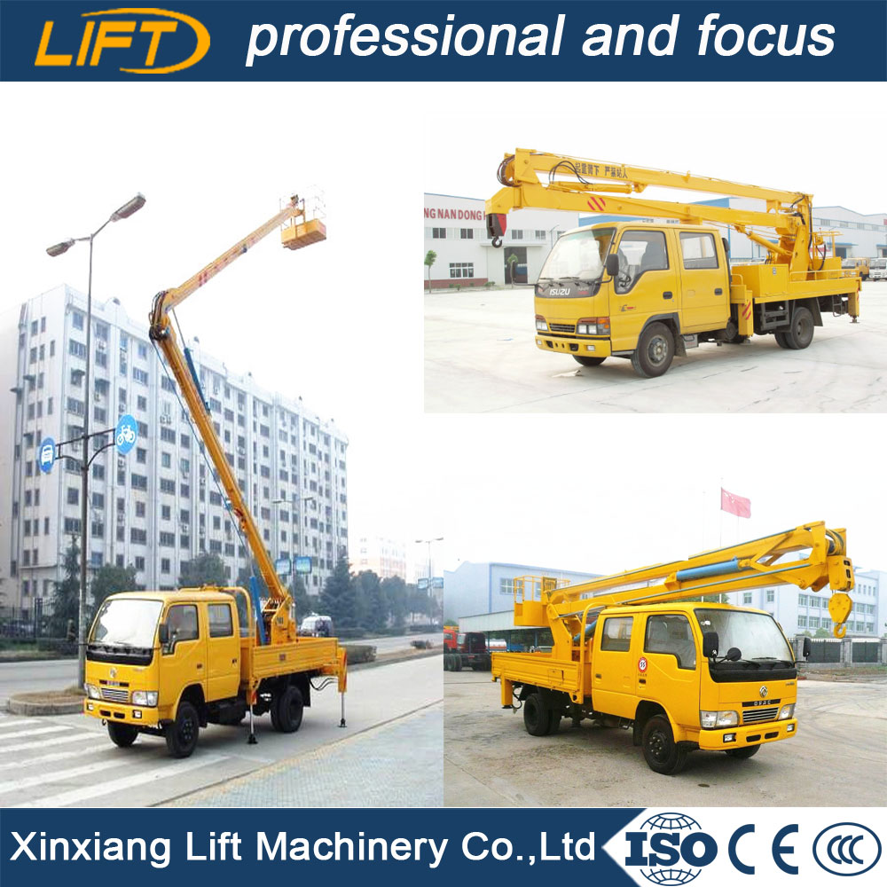 Folding arm 12m aerial platform truck with good price