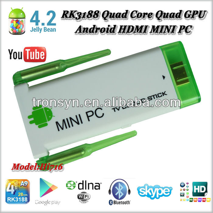 RAM 2GB Quad core Quad GPU Android 4.2 HDMI MINI PC internet tv box