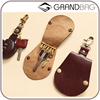 simple hot sell handmade 100% real leather key holder custom keychain cover wholesale