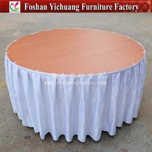 YC-0284 Wholesale table skirt for sales/banquet steps in table skirting/tulle table skirt