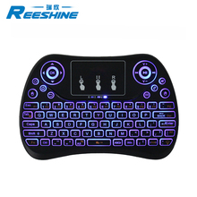 2018 New arrival midi Keyboard t2 wireless keyboard and mouse RGB colour for android tv box