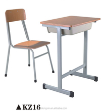 Steel Frame Study Desk and Chairs ,School House Desk and Chairs KZ16