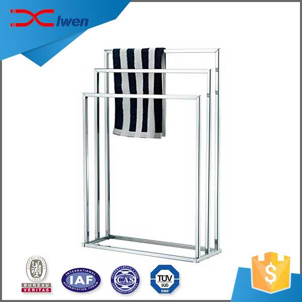ODM 3 tier metal towel bar stand bathroom metal towel rack