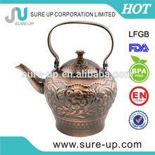 Popular style stainless steel decorative arabic tea pot (OSUI)
