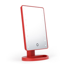 Factory sales makeup mirror for bedroom and led desktop mirrors with touch screen sensor switch table mirrors