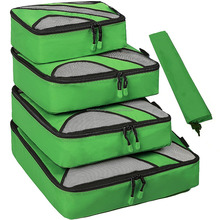 4 Set Packing Cubes,Travel Luggage Packing Organizers with Laundry Bag(Green)