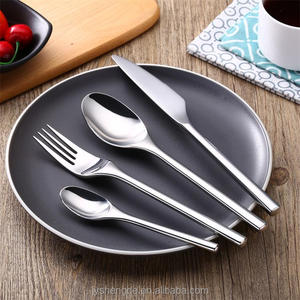 FDA/LFGB silver plated cutlery silverware, home use stainless steel gold cutlery/flatware/silverware/tableware set