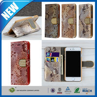 C&T Newest hot selling leather case with diamond buckle for iphone 6/6s