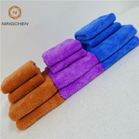 Double Side Any Color 1000 GSM Car Coral Fleece Cleaning Cloth Microfiber TowelCar Cleaning Washing Super Absorbent Plush Microf