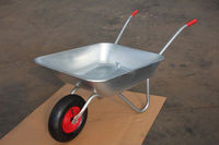4 cu.ft galvanised chassis and tray wheelbarrow