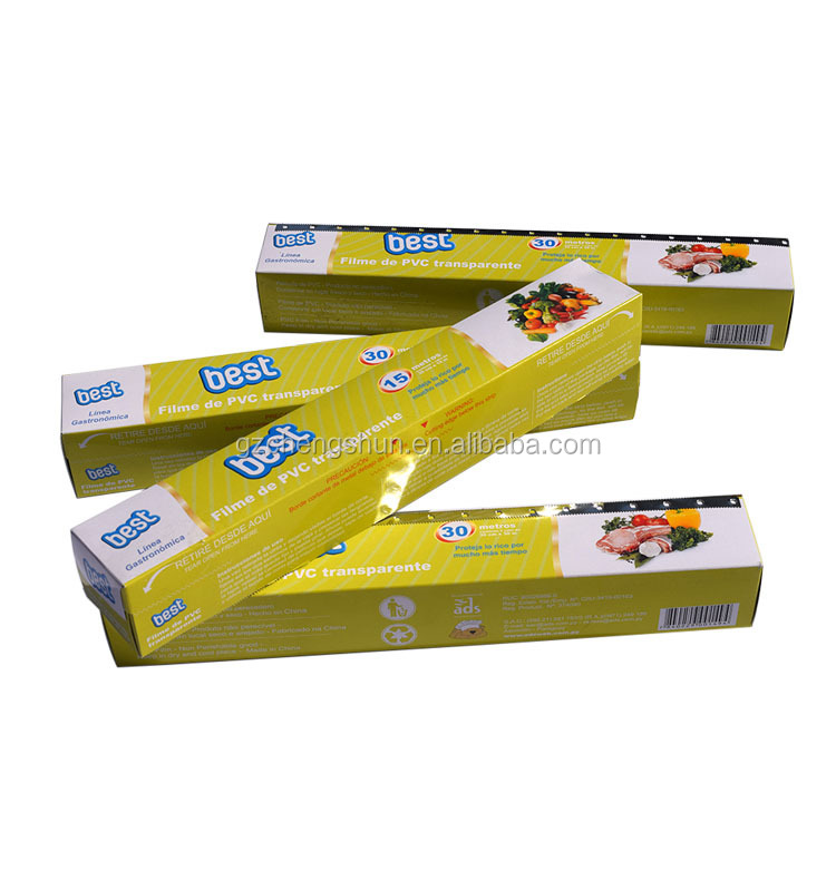 Plastic wrap PVC Cling film, PVC stretch wrap for food packing, Jiachu factory high quality