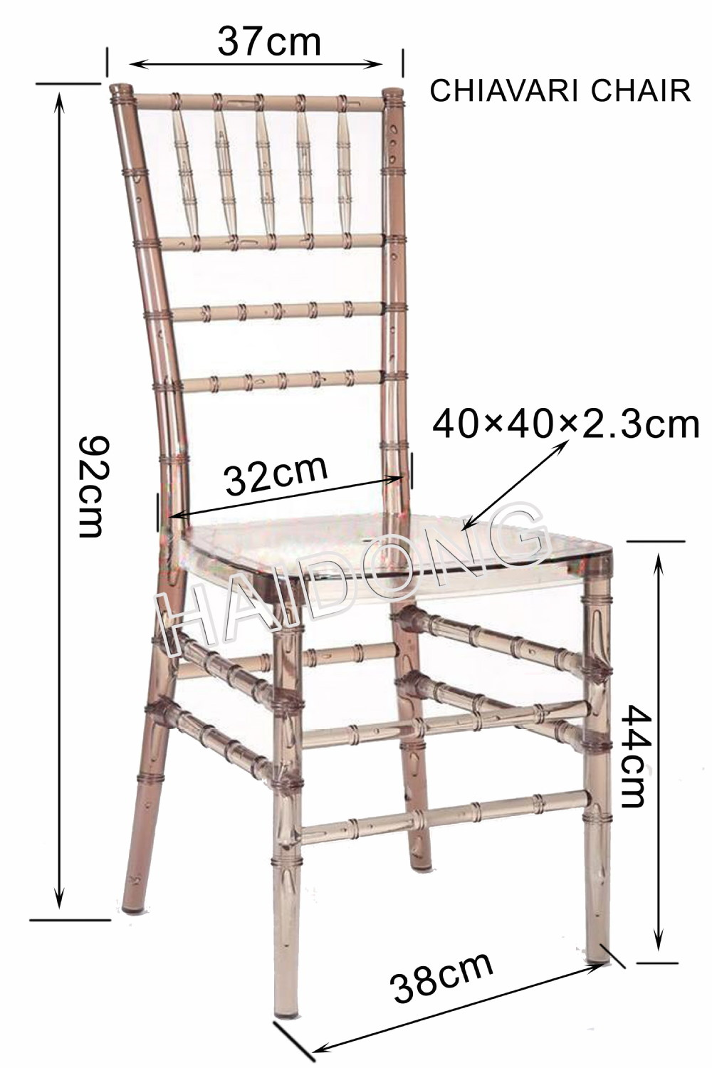 Marble Gold Resin Chiavari Chair