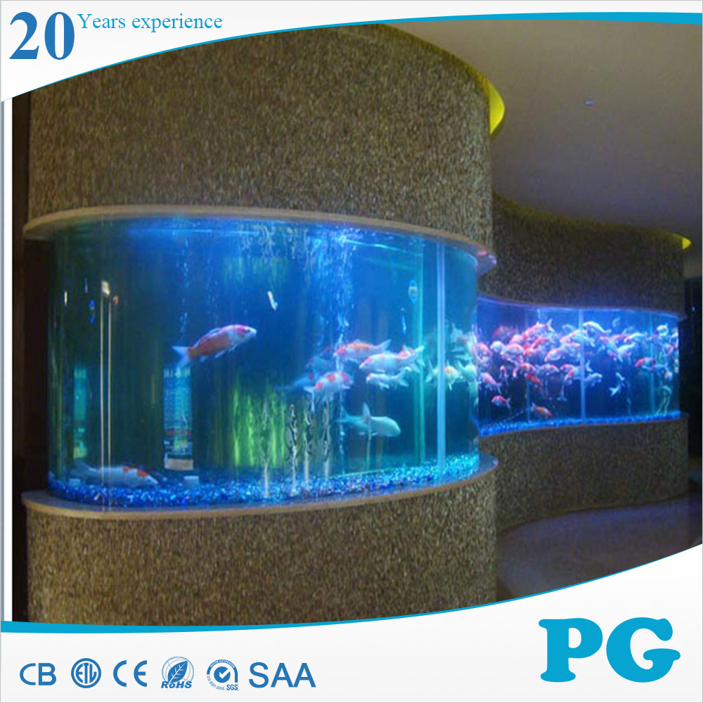 PG Modern Customized Round Acrylic Fish Tank