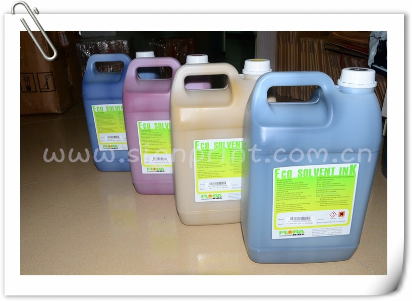 flora LJ 320P printer solvent ink,flora printer eco solvent ink no smell