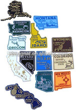 the United states map PVC fridge magnet/custom fridge magnet