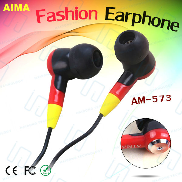 Fashion colorful earbuds of best price,wholesale,made in China