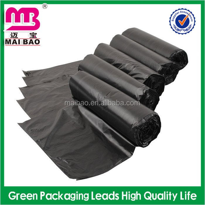 Flat mouth bag heavy duty big capacity for trash rubbish waste bag