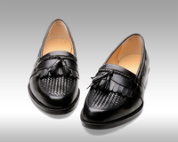 Hand-made calfskin leather Men's shoes durability and repair qualities