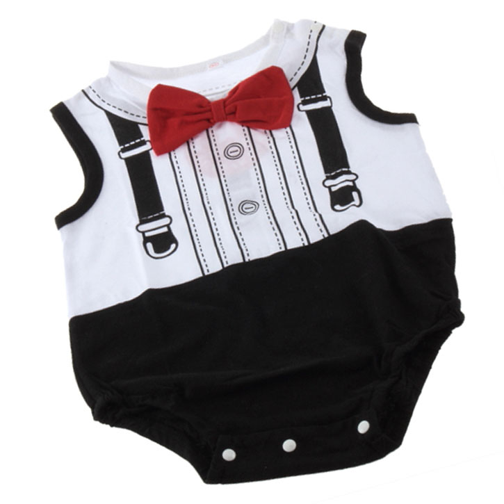 "Fashion Boy's ""gentleman"" New Born Baby Accessories Bodysuit For Cool Baby"
