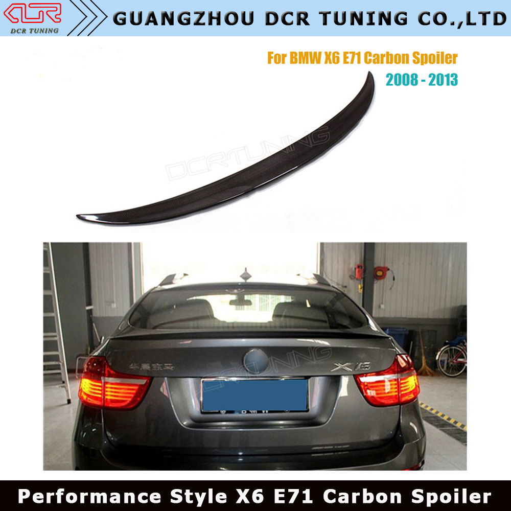For BMW X6 E71 Spoiler Carbon Fiber Spoiler For X6 Rear Trunk Wing Performance Spoiler