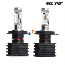 2016 Automotive LED Lights,3500LM P hilips H4 LED Headlight,12 Volt Canbus LED Lights for Cars Audi