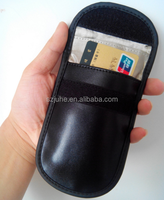 leather pouch mobile phone wallet rfid bag for cellphone