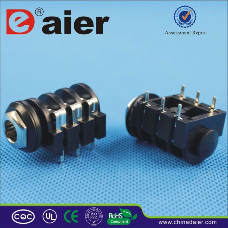 Daier 2.5 mm male to 3.5 mm female stereo adapter