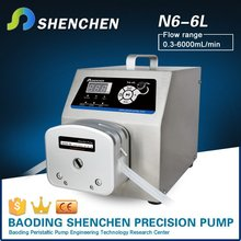 Semi automatic peristaltic pump for grease,mini liquid pump for cement grinding aid,speed adjustable analysis pump for honey