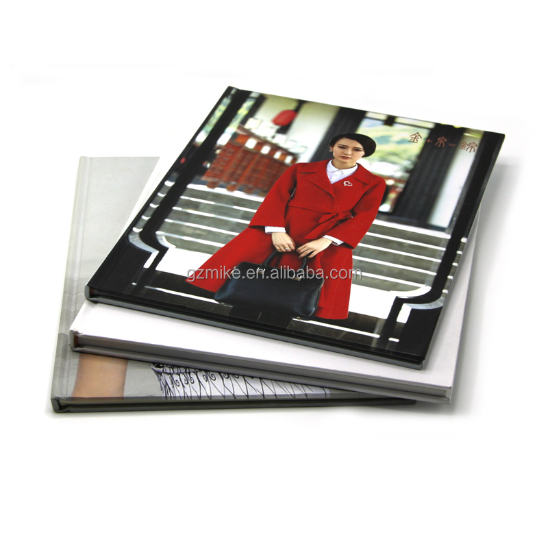Cheap custom spot uv cover a4 hardcover book printing