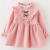 Fashion design 100% cotton little girls winter wool lining casual dresses