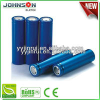 18650 lithium ion battery 2500mAh rechargeable 3.7v 1800mAh--2600mAh