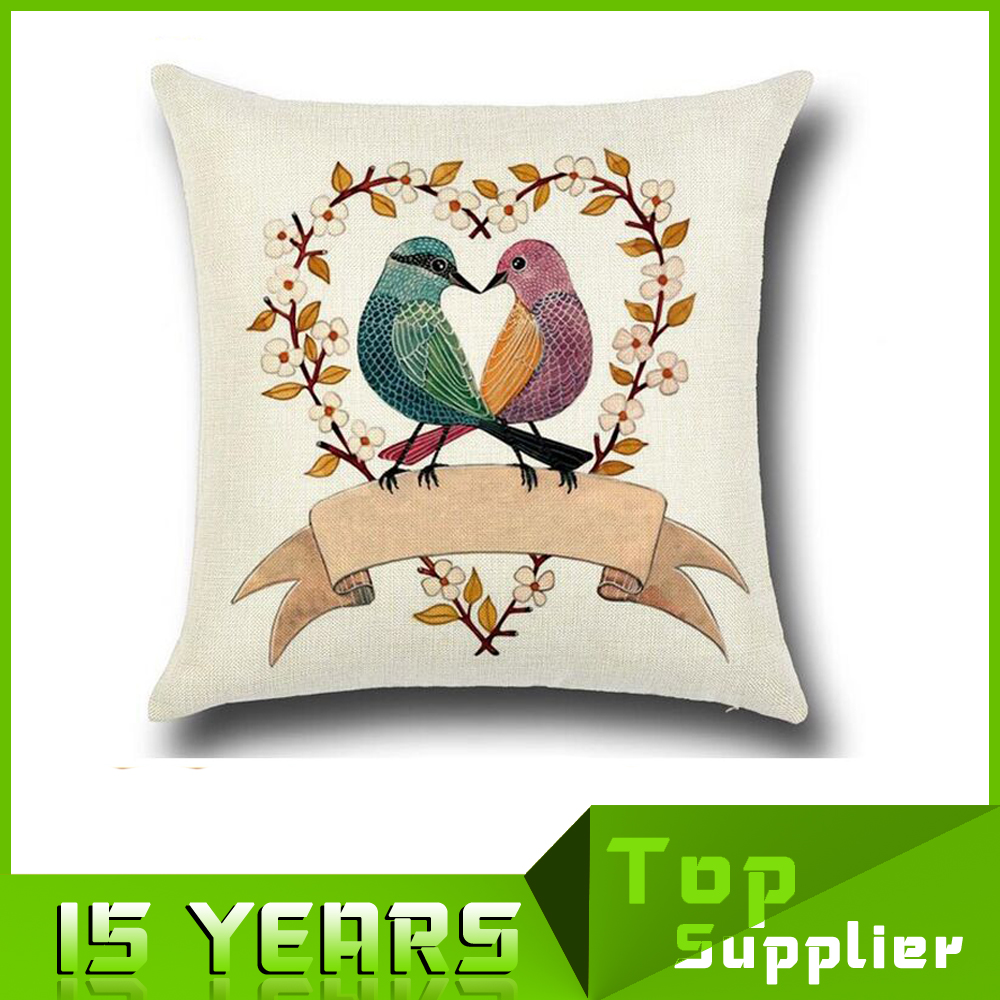 Docorative Linen/Cotton Sublimation Custom Sofa Throw Pillow Cases