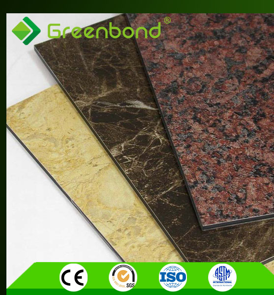 Greenbond new marble sign board aluminum plastic composite panel
