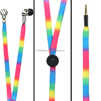 bulk colorful logo printed shoelace earphone for ladies fancy items