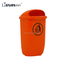 50 liter wall mounted plastic waste bin recycle bin