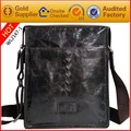 Guangzhou leather bags factory genuine italian leather embossed logo satchel bag