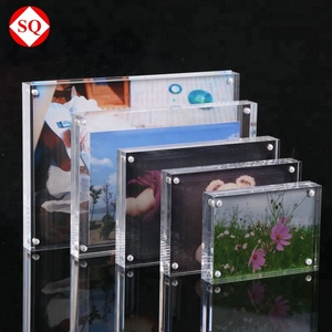4inch 5inch 6inch 7inch 8 inch Blank Square Clear Magnetic Acrylic Crystal Desk Photo Picture Frame in Stock