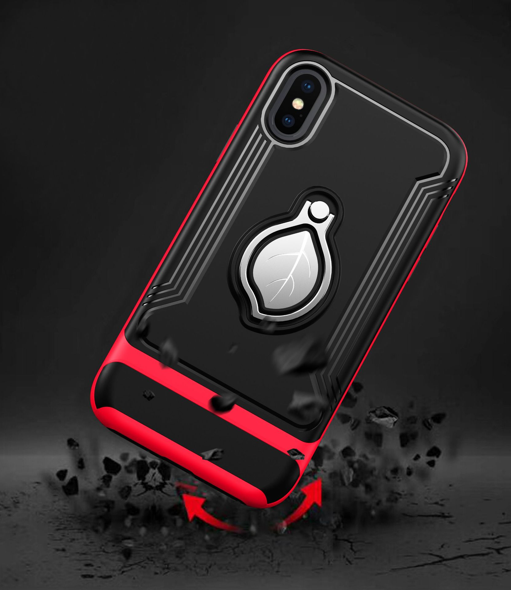 Newest Fashion style ring case for iphone X ring holder case