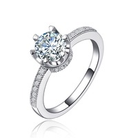 Fashion jewelry Europe high-grade high-end platinum Zircon ring R118