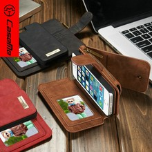 2016 FBA Wholesale Luxury PU leather smart phone wallet case for Iphone SE 5S 5 credit 14 card case with stand