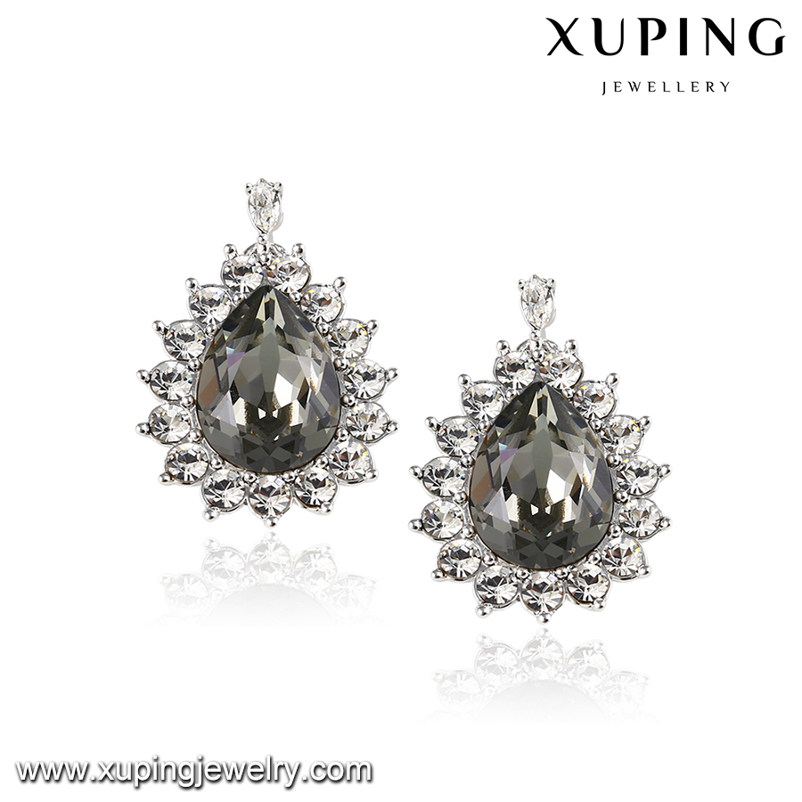 92171-new 2016 latest xuping fashion single big stone crystals from Swarovski fancy earring designs for women