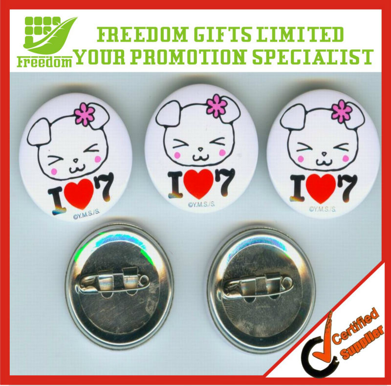 Advertising Tin Blank Button Badge Wholesale