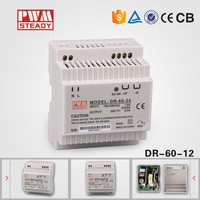 High Effiency~ 60W single output DIN Rail 12v 5a custom switching power supply
