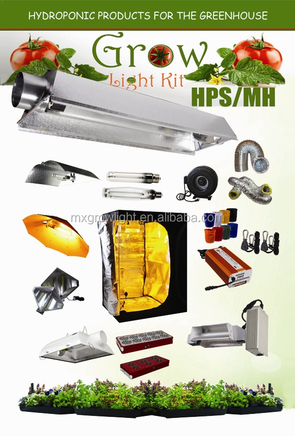 New Grow Light Hydroponic Air Cool Tube Reflector for MH HPS Light System / grow reflector system