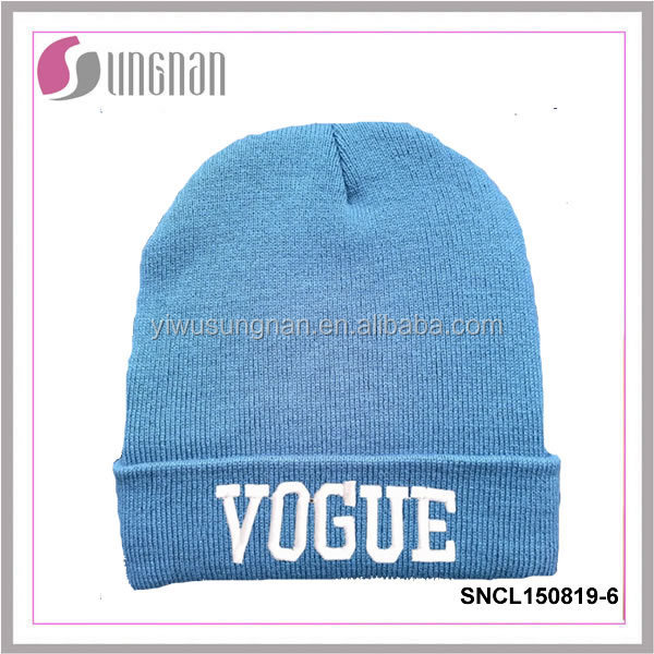 2017 New Arrival Best selling custom knit beanie thick knit beanies