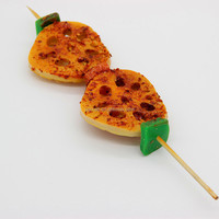 High quality plastic PVC lotus root barbecue food sample model for decoration